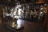 stock photo of breastplate  - Extensive display of medieval armour at the famous armoury in Graz - JPG