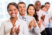 pic of applause  - Successful business group applauding at the office - JPG