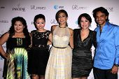 Raini Rodriguez, Cierra Ramirez, Eva Mendes, Patricia Riggen, Eugenio Derbez at the