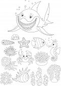 picture of blubber  - Set of sea animals - JPG