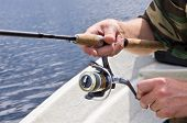 Fisherman Rotating Fishing Reel