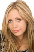 picture of blonde woman  - closeup portrait of the beautiful blond woman - JPG