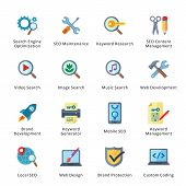 SEO & Internet Marketing Flat Icons - Set 1