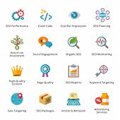 stock photo of submissive  - This set contains 16 SEO and Internet Marketing Flat Icons that can be used for designing and developing websites - JPG
