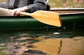 image of canoe boat man  - close - JPG