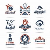 stock photo of baseball bat  - Baseball jobs associated with a set of icons that can be used - JPG