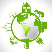 stock photo of environmentally friendly  - Eco Global Meaning Earth Friendly And Environmentally - JPG