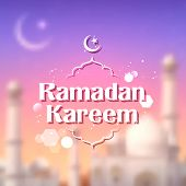 picture of eid ka chand mubarak  - illustration of Ramadan Kareem  - JPG