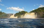 stock photo of canaima  - jungle forest and waterfall in Canaima Venezuela - JPG