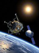 image of ares  - Crew Exploration Vehicle Docking - JPG