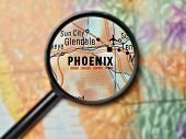 stock photo of usa map  - Close up of Phoenix - JPG