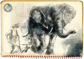 image of beast-man  - Digital painting - JPG