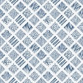 foto of indigo  - Indigo blue hand drawn seamless pattern - JPG