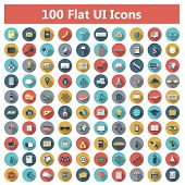 picture of internet icon  - Set of modern icons in flat design with long shadows and trendy colors for banners - JPG