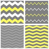 foto of chevron  - Tile vector chevron pattern set with yellow - JPG