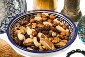stock photo of mixture  - A mixture of nuts popular in Arab countries - JPG