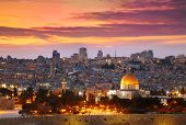 stock photo of israel people  - View of Jerusalem old city - JPG