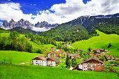 picture of italian alps  - amazing scenery of Dolomites - JPG