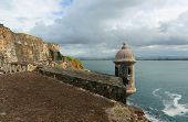 stock photo of el morro castle  - Castillo San Felipe del Morro El Morro Sentry Box - JPG