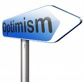 picture of positive thought  - optimism think positive be an optimist by having a positivity attitude that leads to a happy optimistic life and mental health   - JPG