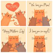 picture of baby cat  - Sweet cards for Mothers Day with cats - JPG