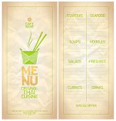picture of chinese menu  - Original Thai food menu list design - JPG