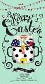 stock photo of happy easter  - Easter Greeting Card  - JPG