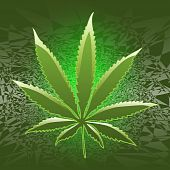 picture of rastafari  - Illustration of marijuana as a symbol of relaxation - JPG