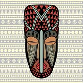 stock photo of african mask  - African Mask - JPG