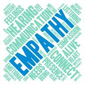 foto of empathy  - Empathy word cloud on a white background - JPG