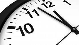 picture of analog clock  - Close - JPG