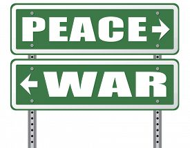 picture of stop fighting  - make love not war fight for peace stop conflict and say no to terrorism pacifism road sign  - JPG