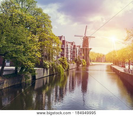 Amsterdam canal at