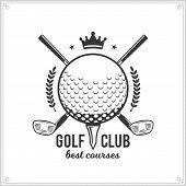 Golf Club Logo poster