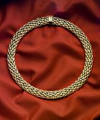 picture of collier  - golden necklace - JPG