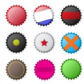 Vector - Illustration of various original bottle cap designs