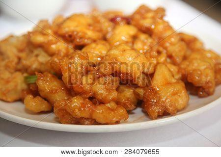 orange chicken Chinese food orange