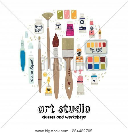 Painting Tool Set With Lettering