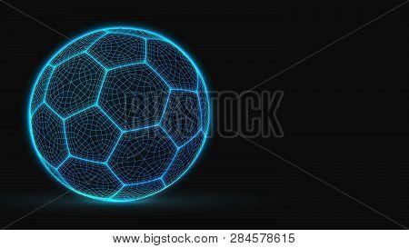 Cyberpunk Style Soccer Ball Lowpoly