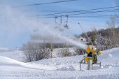 Snow Cannon At Work On A Ski Resort In Park City poster