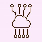 Cloud Network Icon Isolated On White Background. Cloud Network Icon Simple Sign. Cloud Network Icon  poster