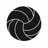 Volleyball Sport Icon Silhouette Isolated On White Background. Volleyball Logo Icon. Vector Stock. poster