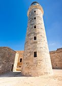 stock photo of el morro castle  - Tower of the famous castle and lighthouse of El Morro - JPG