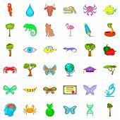 Botany Icons Set. Cartoon Style Of 36 Botany Icons For Web Isolated On White Background poster