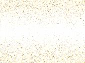 Gold Sparkles Glitter Dust Metallic Confetti Vector Background. Abstract Golden Sparkling Background poster