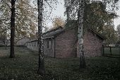 Old Hous In Auschwitz Osventsim Concentration Camp - A Network Of German Nazi Concentration Camps An poster