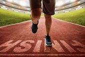Running On The Track To Finish Line poster