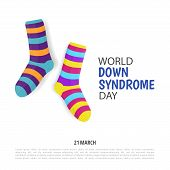 Vector Illustration On The Theme World Down Syndrome Day poster
