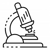 Lab Microscope Icon. Outline Lab Microscope Vector Icon For Web Design Isolated On White Background poster
