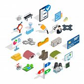 Financing Of Project Icons Set. Isometric Set Of 25 Financing Of Project Vector Icons For Web Isolat poster